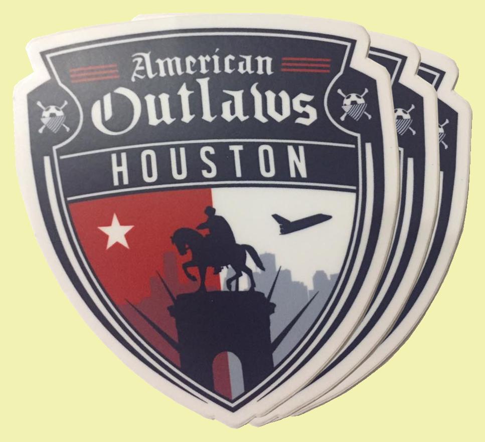 AO Houston Sticker (Set of Three)