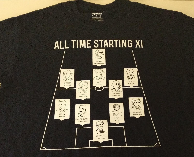 All Time Starting XI Shirt - Adult Medium