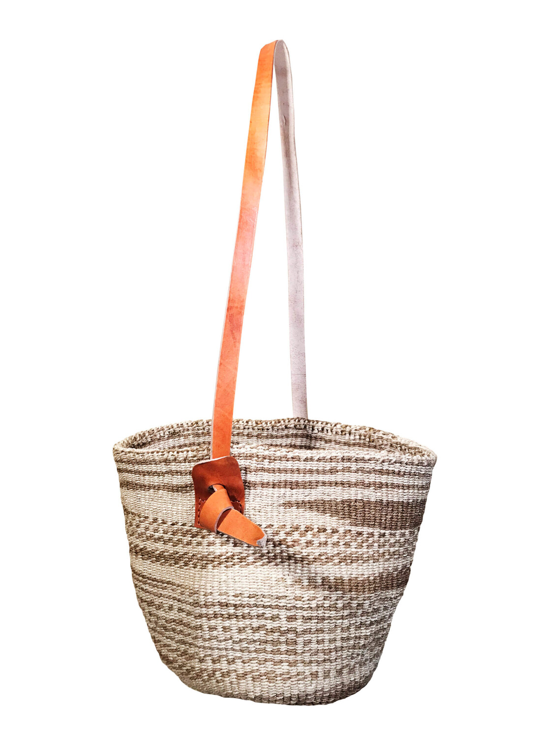 Zebra Style Beige And Off White Basket