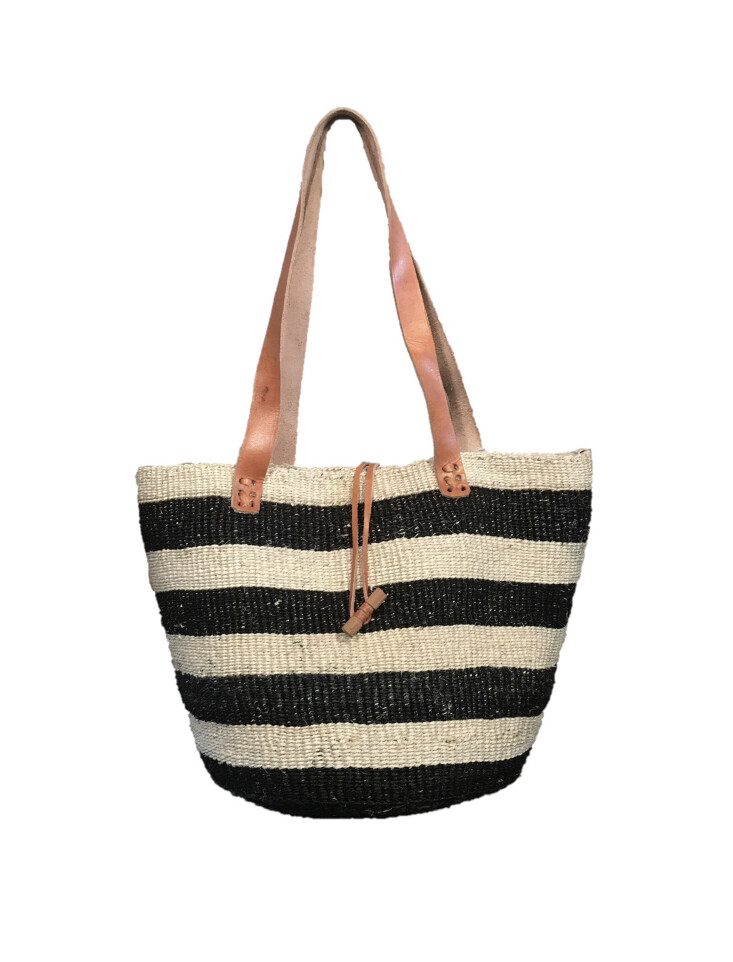 Black And White Tote  Basket