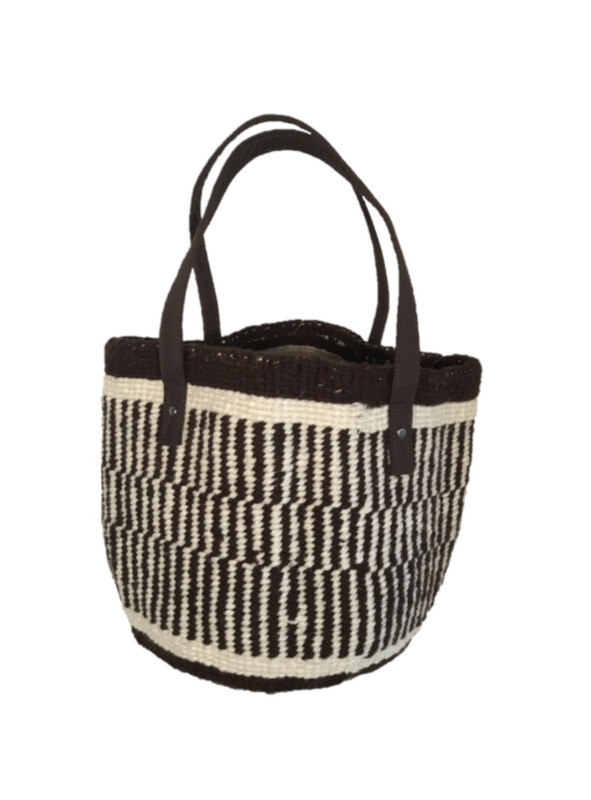 Chocolate Brown Mixed Patterns Medium Basket - 12.5