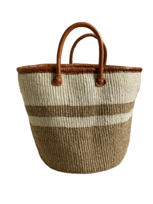 Beige And Off White Basket
