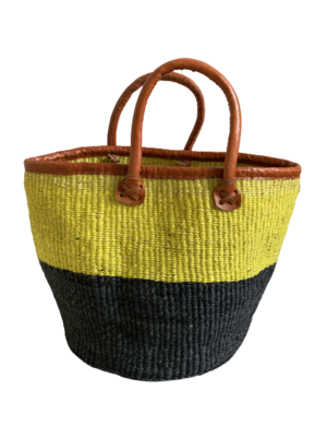 Two Tone Black And Yellow Basket