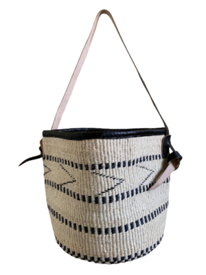 White With Black Basket