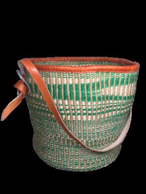 Zebra Print Green Basket