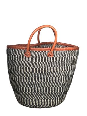 Black And Off White Basket