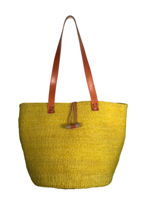 Yellow Tote  Basket