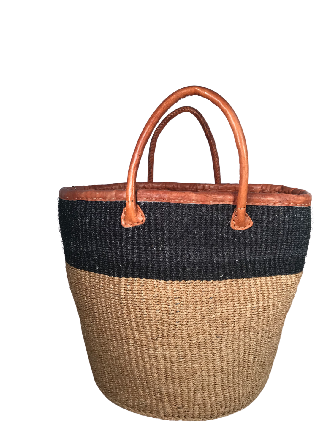 Two Tone Black and Beige Basket