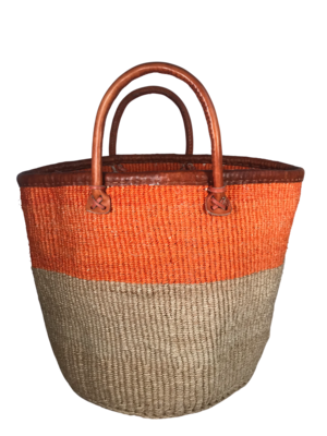 Beige And Orange Basket