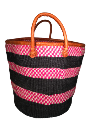 Black and Pink checkered Basket