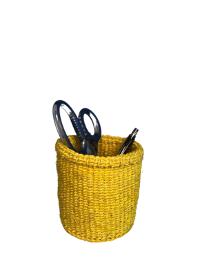 4 Inch Cute Baskets Yellow