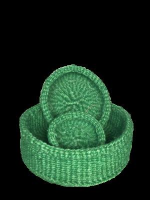 Green Nesting Basket Set