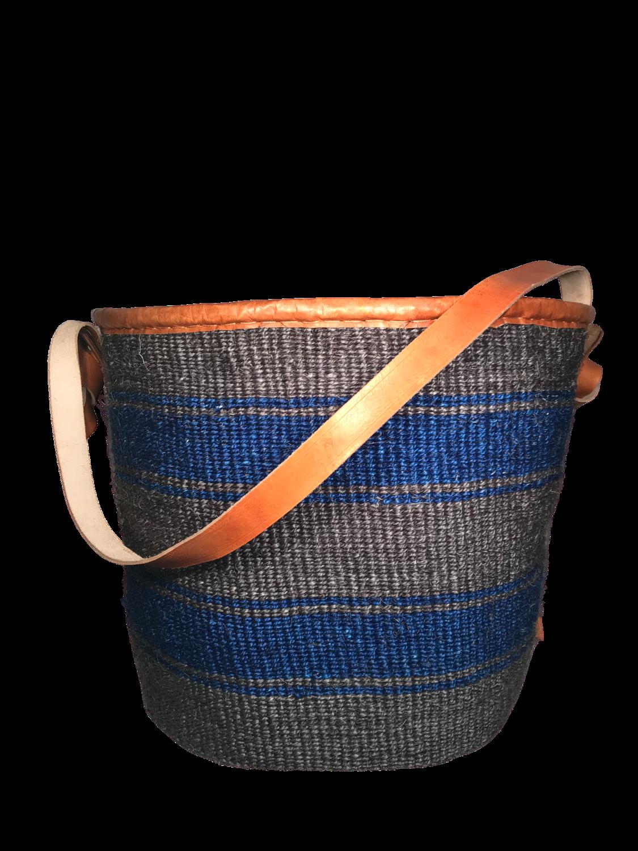 Grey and Blue Basket