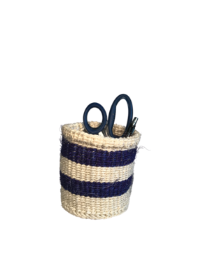 4 Inch Cute Baskets Navy and white