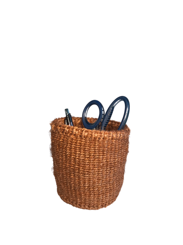 4 Inch Cute Baskets Plain brown