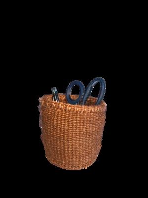 4 Inch Cute Baskets Plain brown