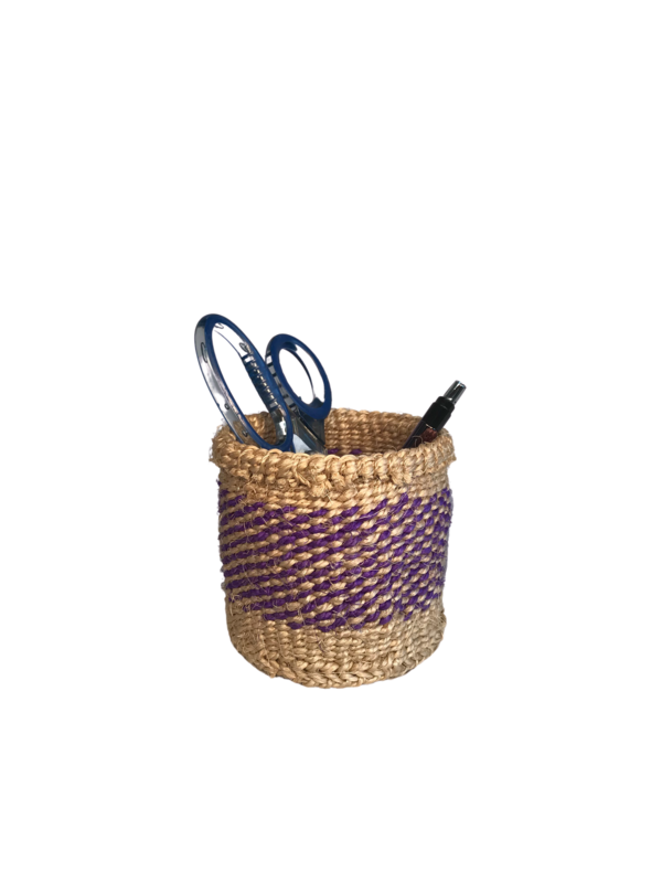 4 Inch Cute Baskets Purple and Gold