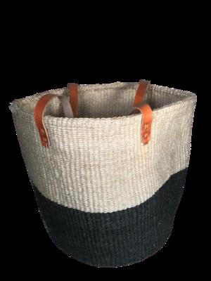 2 tone black and white Basket