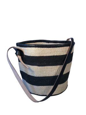 Striped Black and White Basket