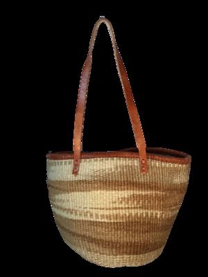 Zebra Gold and White Tote  Basket