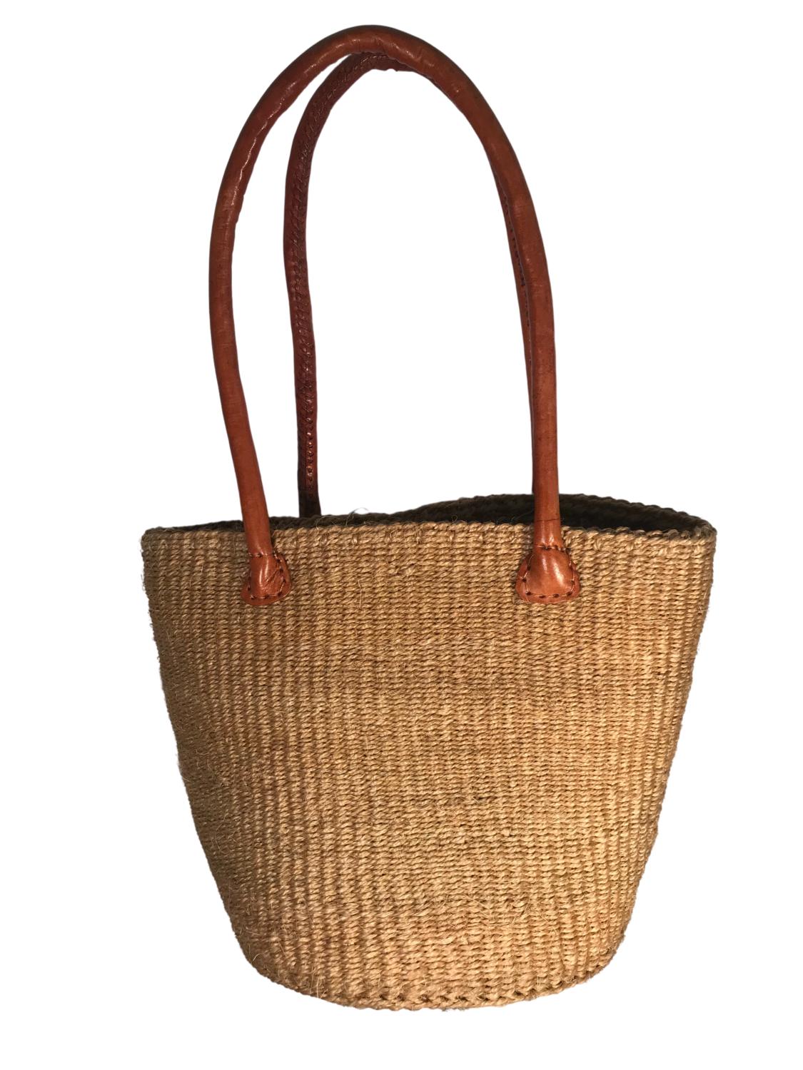 Beige Clasp Tote  Basket