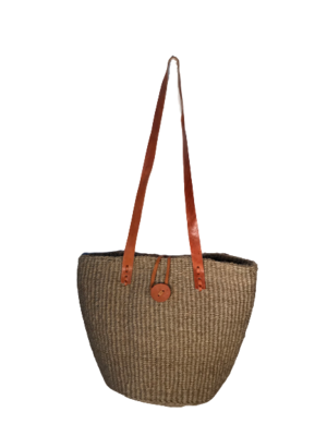 Gold Tote  Basket with Closure