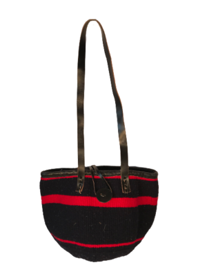 Dark Navy and Red Tote Basket