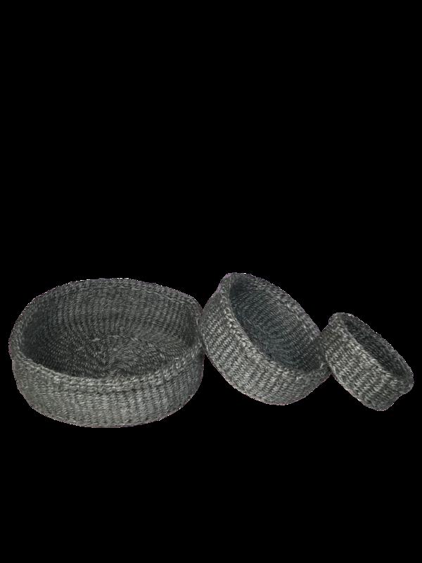 Grey Nesting Basket Set