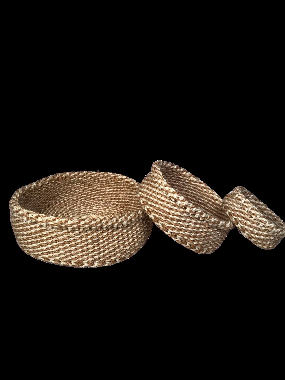 Checkered Nesting Basket Set 1