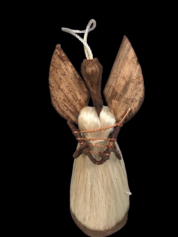 Angel Figurine holding a harp