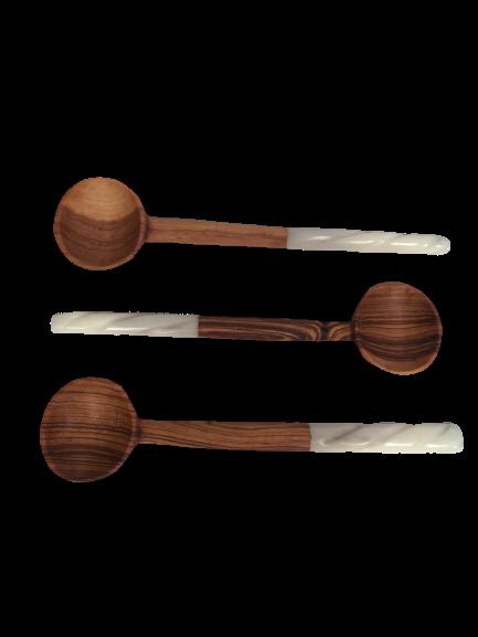 Spiral White Bone End Coffee Spoon