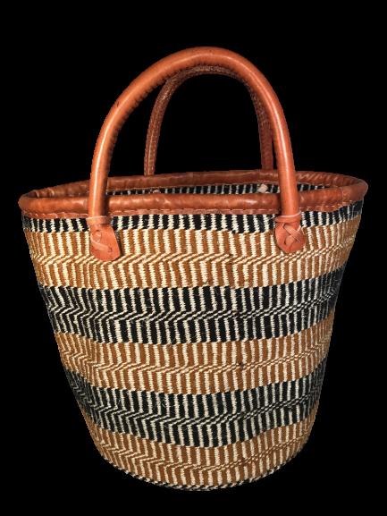 Beige and Black Basket