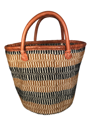 Beige and Black Basket