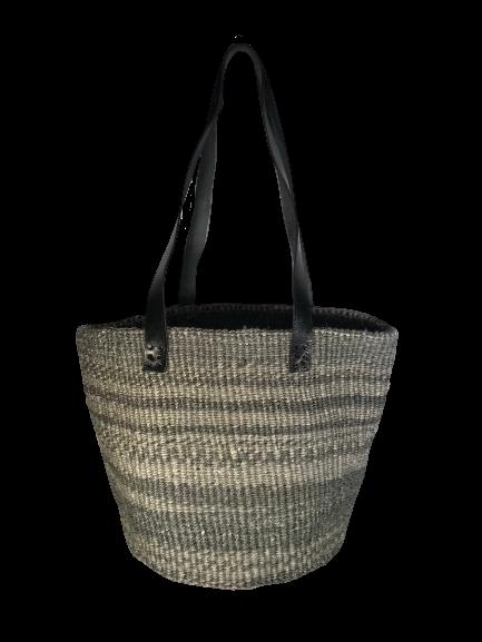 Zebra Style Grey and Charcoal Basket