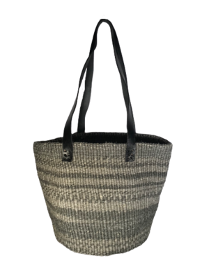 Zebra Style Grey and Charcoal Basket