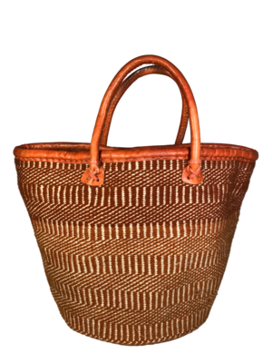 Beige and Brown Basket
