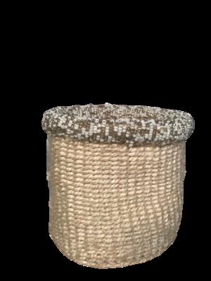 White 4 Inch Cute Baskets - neutral beads