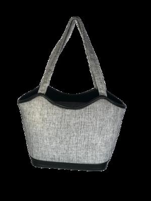 Grey Coloured Jute Handbag