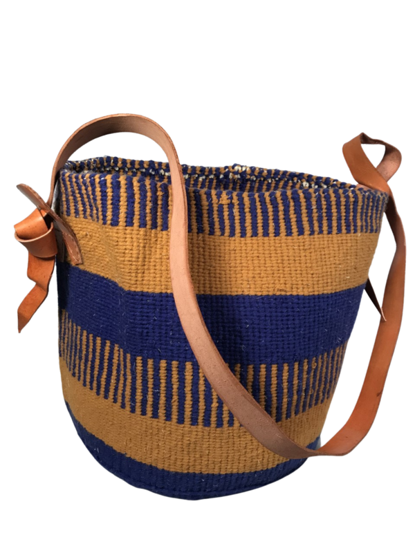 Blue and Beige Basket - 12.5