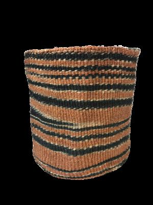 Zebra Brown, Black and Cream Planter Basket