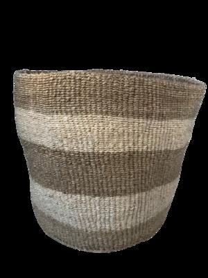 Striped Beige and Cream Planter Basket
