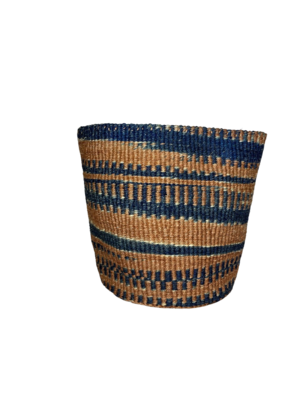 Blue and Brown Planter Basket