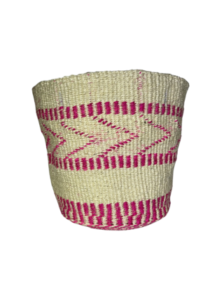 Pink and White Planter Basket