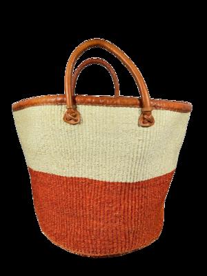 Orange and White Basket - Two tone