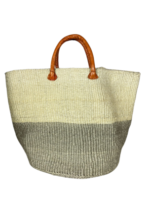 Grey and White Basket - Two Tone