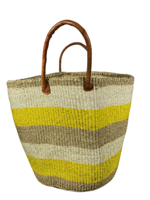 Yellow, Beige And White Basket