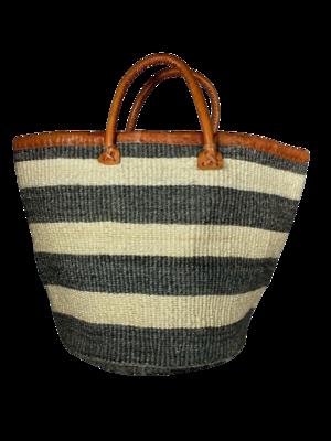 Dark Grey And White Basket