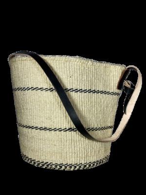 White With Black Strips Basket