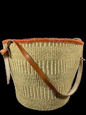 Beige  Strips Basket