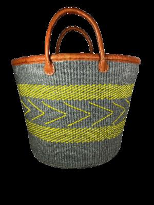 Yellow And Grey Basket